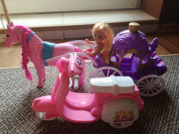 Lalka karoca z koniem skuter