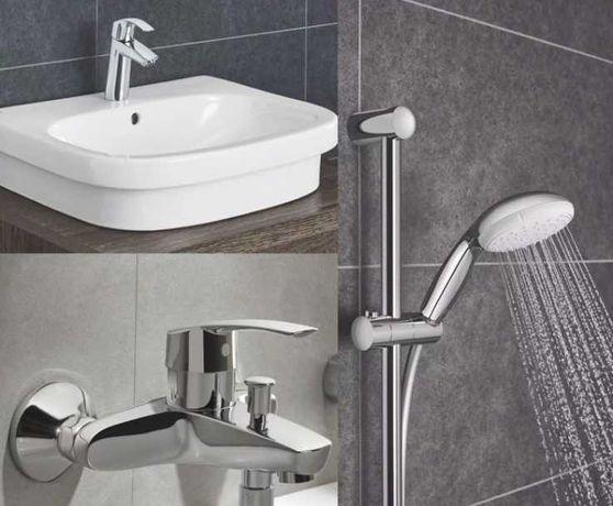 Набор смесителей для ванны Grohe Eurosmart 3 в 1 (123246M)