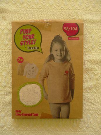 2 nowe bluzki Lupilu z długim rękawem rozm 98/104