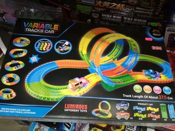 Трек Magic Tracks, мягкий светящийся трек +две машины