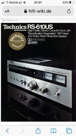 Technics Deck RS-610US, Unikat! kolekcjonerski magnetofon kasetowy!