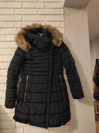 Kurtka płaszcz zimowy z kapturem rozm. L