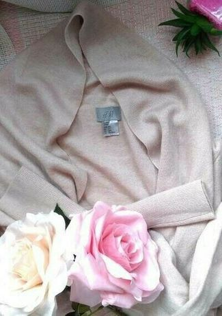 (M/L) H&M/ Asymetryczny, wełniany sweter biznesowy/jak NOWY