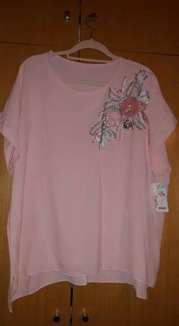 Tunica rosa com aplicação xxl
