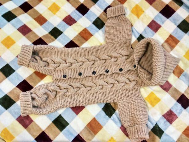 Комбинезон вязаный handmade