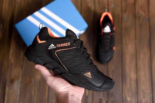 Мужские летние кроссовки сетка Adidas Terrex А3 ч\ор N сетка