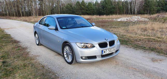 BMW E92 320dA 2008 rok seria 3 automat skóry navi bezwypadkowy coupe