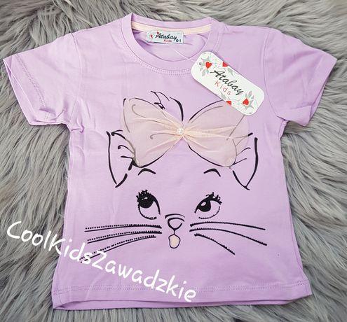 Bluzka tshirt kotek