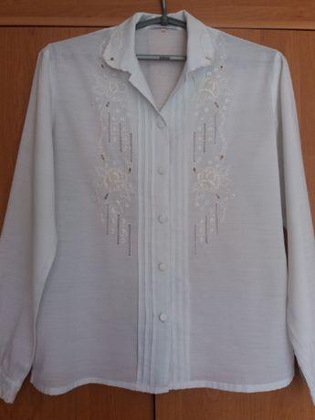 Блуза батистовая с вышивкой рубашка подростковая