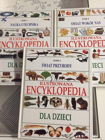 Ilustrowana encyklopedia dla dzieci tom 1,3 i 4