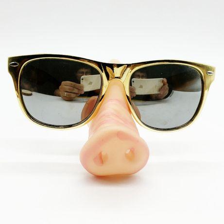 Okulary na sylwestra sylwestrowe nos świni świński karnawał