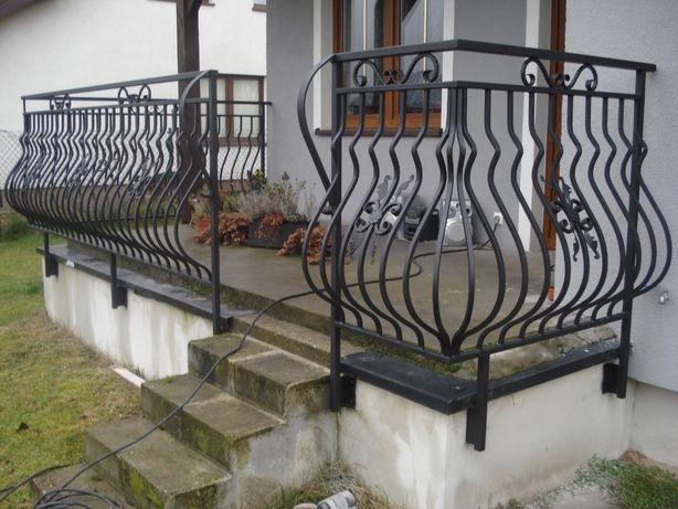 Balustrada malowane natryskowo
