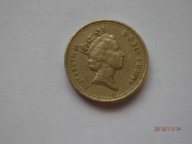 ELIZABETN ll one pound 1989