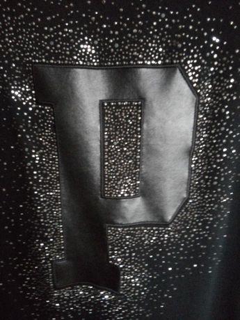 Czarny sweterek tunika