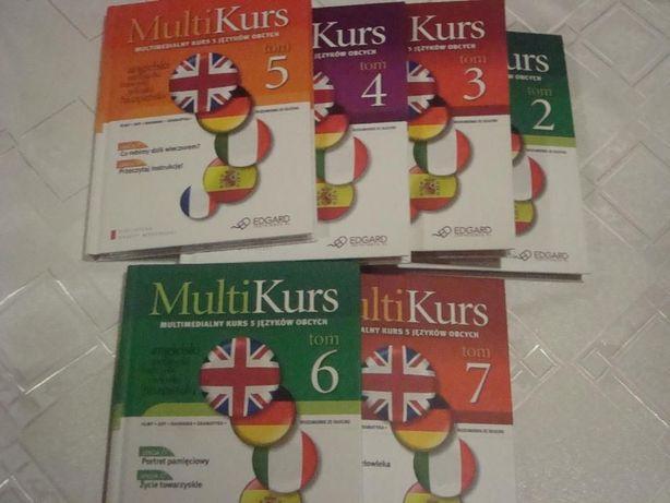 Multimedialny kurs 5 języków obcych książka z płytą