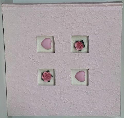 Różowy album na zdjęcia infinity