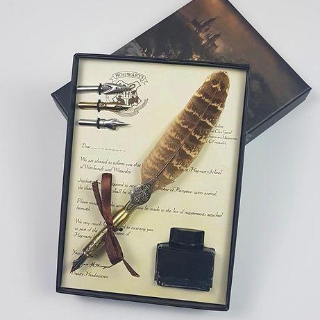Harry Potter caneta ponta de aparo pena presente 4 pontas