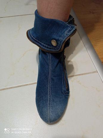 Buty dżinsowe niebieskie