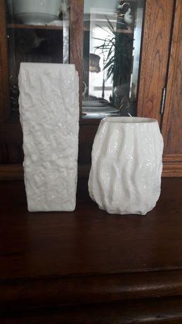 Wazon wazony szkło białe lattimo PRL