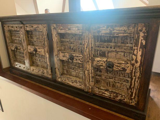 Komoda kolonialna tekowa meble kolonialne lite drewno palisander