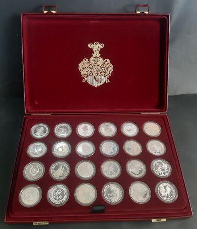 Zestaw monet srebrnych Olympischen 1992/45szt/wysyłka/LOMBARD Raków