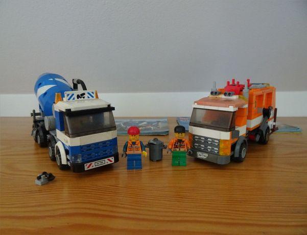 Lego city betoniarka i śmieciarka (7990 i 7991)