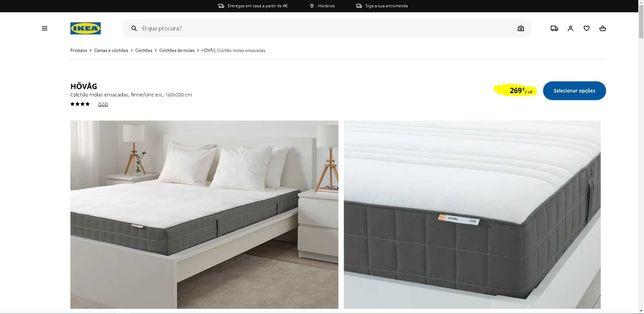 Colchão IKEA HOVAG molas ensacadas, como novo, super confortável