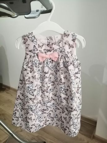Sukienka w motylki na lato HM rozmiar 86