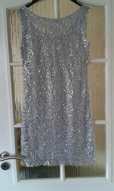 nowa sukienka Z cekinami