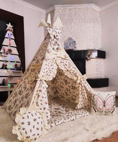 Детская палатка вигвам, домик, шалаш. Доставка по Украине