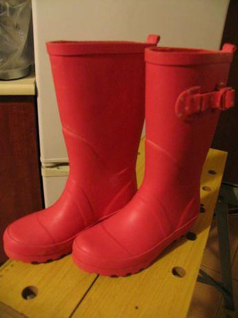 Gumiaki-kalosze dla dziewczynki, rozmiar 32, F&F, kolor czerwone