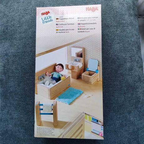 HABA little friends drewniane mebelki do domku dla lalek łazienka nowe