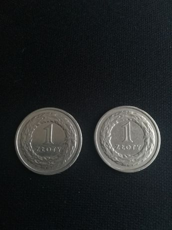 Dwie monety 1 zł - 1990 rok | KOLEKCJONERSKIE