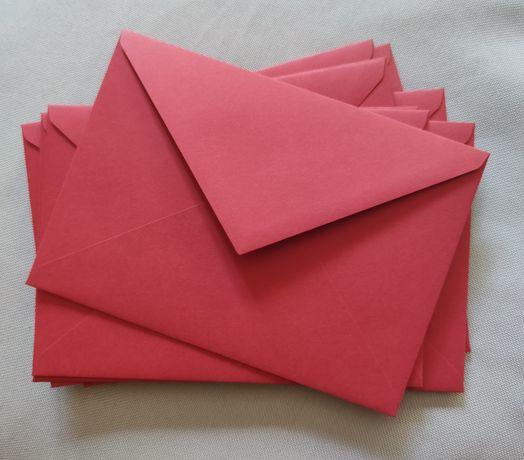 10 bordowych kopert C6 (zaproszenie na ślub)