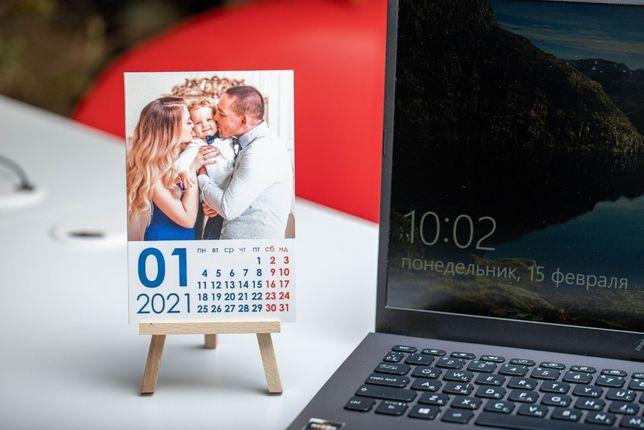 Печать календаря с фото, подарок к 8 марта, друк