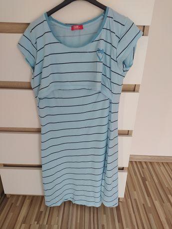 Koszula nocna do karmienia niebieska txm r L
