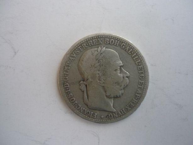 Moneta 1 Krajcar 1894 r . Austrio - Węgry srebro