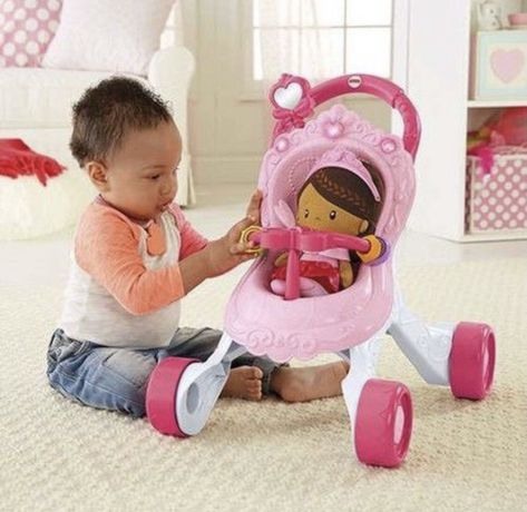 Коляска - каталка  от Fisher Price + кукла