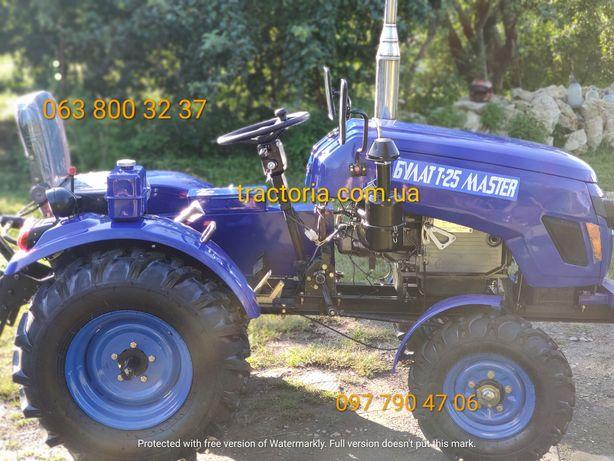 Мінітрактор Булат Т-25 New+ФРЕЗА+ПЛУГ+ПРОТИВАГИ.Мототрактор трактор