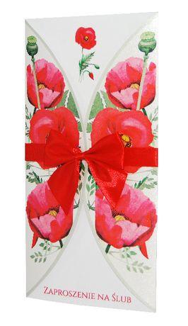 Zaproszenia ślubne, na wesele - kolekcja FLOWERS 03 + koperta