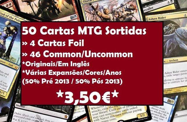50 Cartas MTG (x4 FOILS / Antigas&Recentes) Originais