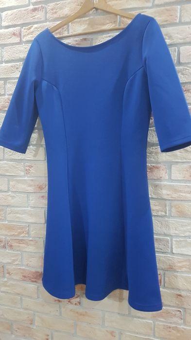 Sukienka w literę A  kobaltowa Lubin - image 1