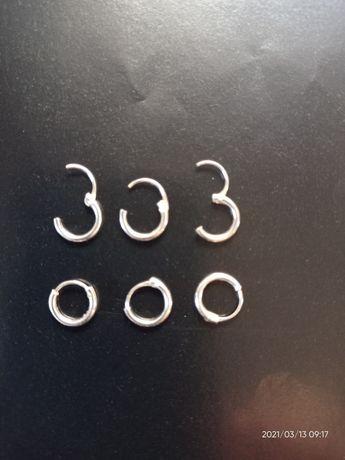 Srebrne kolczyki 8 mm
