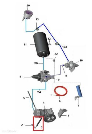 Przewód smarowania kompresora - Hattat, Ursus, Polmot H