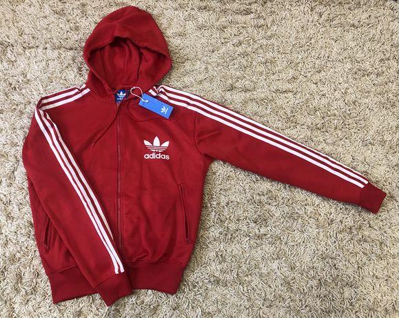Новая оригинальная кофта худи Adidas Original (красная и синяя)