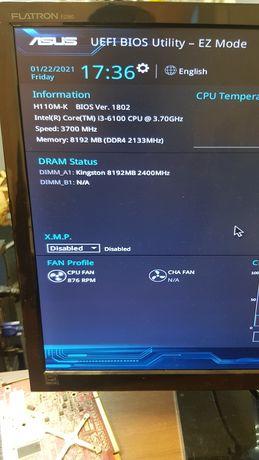 i3-6100 4 ядра 3.7 Ггц, 8 Гб озу( ддр4)