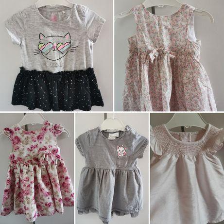 Sukienki dla małej modnisi 0-6 miesięcy