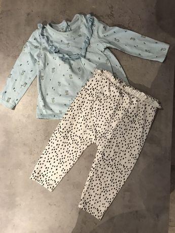 Spodnie bluzeczka 6-9 , 74-80