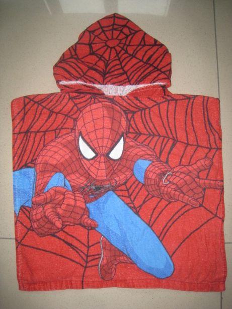 Детское банное, пляжное полотенце - пончо на 2-6лет Спайдермен