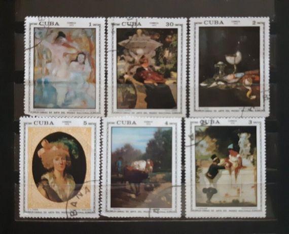 Марки почтовые CUBA 1973 г. Серия Картины.